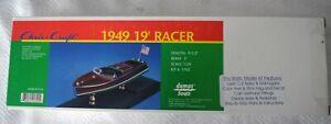 Dumas 1/24 Scale Chris Craft 1949 19' Racer Classic Mahogany Speedboat Model Kit