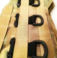 3 pack BLack Tactical T-Ring Webbing Adaptor for molle/pals//emt/military MOLLE