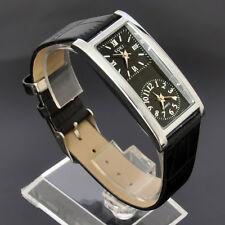 New SOKI Womens Black Analog Quartz Ladies Wrist Leather Strap Party Watch S38