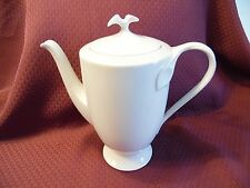 Vintage Hutschenreuther Germany All White Lily Chocolate Coffee Tea Pot Lovely