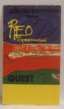 REO SPEEDWAGON - ORIGINAL CONCERT TOUR CLOTH BACKSTAGE PASS