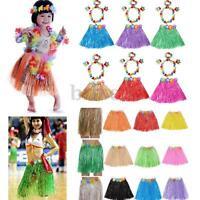 Adult Hawaiian Grass Skirts Hula Luau Fancy Dress 31.4inch Garland Wristband