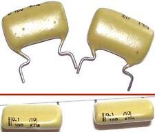 2 Condensateurs MULLARD MUSTARD KT NEUFS 100nF - 100V - 0.100uF - 100000pF