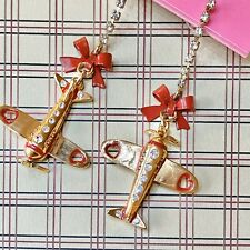 Airplane Mismatch Earrings w/Tag Betsey Johnson 'Miami Chic'