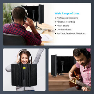 Foldable Filter Microphone Isolation Shield Reflection Vocal Booth For Studio