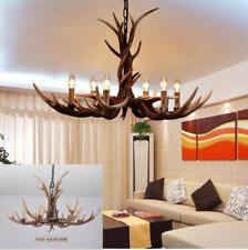 American Retro Deer Horn Pendant Lamp Antler Resin Chandeliers Ceiling Lights