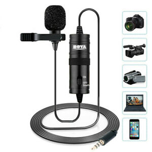BOYA BY-M1 3.5mm Lavalier Omnidirectional Lavalier Microphone for Canon Nikon