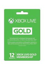 Microsoft Xbox LIVE 12 Month Gold Membership for Xbox 360 and Xbox One WORLDWIDE