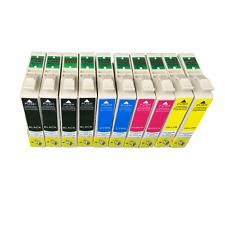 10x cartouches d'imprimante pour Epson stylus sx100 sx200 sx200w sx205 sx210 sx215 sx218
