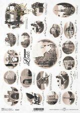 Reispapier-Motiv Strohseide-Decoupage-Serviettentechnik-Shabby-Raute-R1528