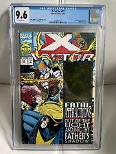 X-Factor #92 CGC 9.6 1st App of Exodus Havok Hologram Card Marvel Comics 7/93
