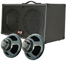 2x12 Guitar Spker Cabinet C Black tolex W Celestion 440LIVE Seventy 80 speakers