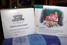Dept 56 North Pole Gate #56324 And Custom Stitchers #56400 Retired Nib