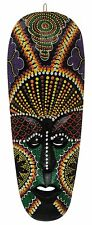 Multicolour African Hand Carved Decorative Mask Wall Decor DIWALI,CHRISTMAS GIFT