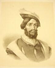 LITHOGRAPHIE Charles Louis de Secondat baron de La Brède de Montesquieu (?) XIXe