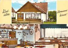 """AK, Ekelsdorf Pönitz, Raststätte """"Hermannsklause"""", 3 Abb., um 1968"""