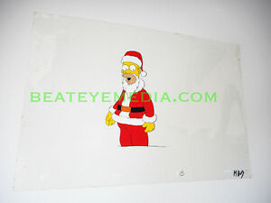 SIMPSONS CEL-ANIMATION ART,CARTOON,HANNA BARBERA,COMIC ART,POP ART,COMICS,SANTA