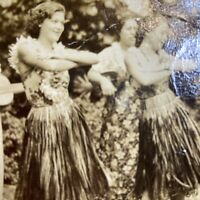 Vintage Postcard HAWAII Hula Dancers RPPC Real Photo DOPS 1925-1942