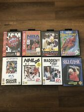 LOT OF 8 SEGA GENESIS VIDEO GAMES ALL COMPLETE CIB TESTED GREAT COND. FAST SHIP