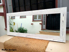 large wood mirror Snow white/full length mirror/floor mirror/reclaimed wood
