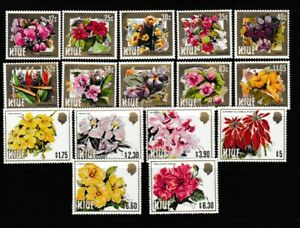 Niue:1984:Flowers(2nd Series).Set.MNH