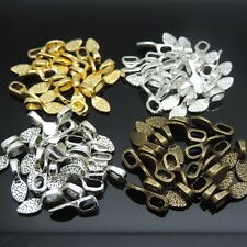 100pcs Mix 4 Color Oval Glue on Bail Earring Bails For Glass Tile DIY Pendants