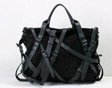 RARE Alexander Wang Kirsten Black Suede Multi-strap tote handbag bag leather