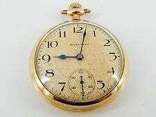 Gold Filled Engraved Case South Bend 19J 219 Double Roller--Works Well