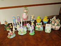 Lot EASTER Village Accessories Figurines Bunny Rabbit Chick HUGE LOT (F8)