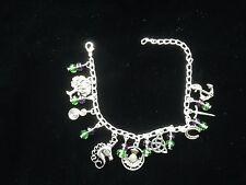 Scottish Celtic charm bracelet. Unicorn. Thistle. Triquetra. 32