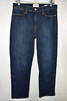 Frame Denim Le High Straight Meribel Jeans Womens Size 31 Blue Meas. 31x26.5