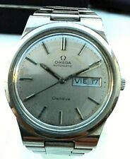 OMEGA GENEVE AUTOMATIC CAL 1022 SWISS WATCH, MEN´S, SILVER DIAL, ST-ST, DATE-DAY