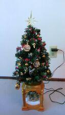 Thomas Kinkade Christmas TREE Snow Globe MUSIC Lights Tabletop Hand-painted
