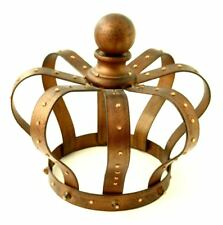 """BED CROWN CORONA TABLETOP COPPER RUST COLOR WITH RHINESTONES 7.5"""" THE ROYALS"""