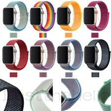 For iWatch Apple Watch Nylon Sport Loop Woven Strap Band Series 6/5/4/3 38-42MM