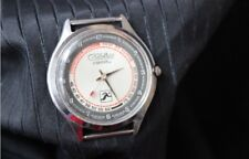 Watch SLAVA Quartz Pulsometer measurement vintage Russian wristwatch USSR