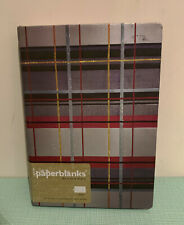 NEW Paperblanks mad for plaid kensington midi notebook