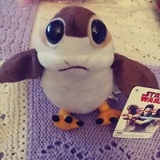 "STAR WARS Se7en20 brand Disney The Last Jedi-Talking Porg-7"" plush toy NWT"