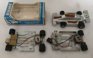 Parma 1/32 Slot Car lot with Womp Womp Lotus F1 and 2 Chassis with motors.