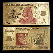 Zimbabwe 1 Vigintillion Dollars 24K Gold Foil Banknote 100 Trillion Series