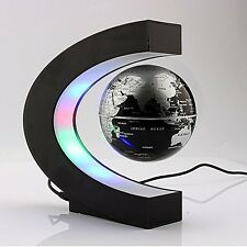 LED Light Magnetic Rotating Globe World Gadget GIFT Table Top Home Office Desk