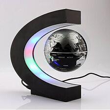 LED Light Magnetic Rotating Globe World Gadget GIFT Table Top Home Office Desk