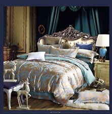 BN Luxury Jacquard 100% cotton europe style 4pc Duvet Cover Set QUEEN