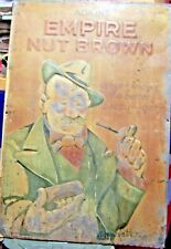 More details for bruce bairnsfather adkins nut brown tobacco old bill litho tin sign 1930s rare!