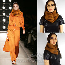 SAGA MINK VISONE stola Pelliccia STOLA fur scarf stole collar Wrap VISONE Runway