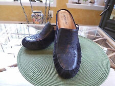 WOMEN SOFTSPOTS AURORA NAVY BLUE SUEDE LEATHER WEDGE HEEL CLOG SHOES SIZE 10 M