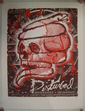 Disturbed Poster Silkscreen Hollywood Palladium January 29 2009 Mint