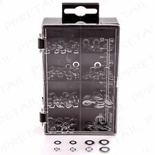 250pc METAL WASHER ASSORTMENT In Storage Case Small-Large Mixed Repair O-Rings