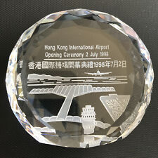 Crystal Hong Kong International airport Opening ceremony Commemorative Item