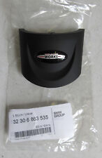 Genuine NEW MINI 3 Spoke Black JCW Steering Wheel Trim R56 R55 R57 R58 - 6863535
